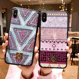 $enCountryForm.capitalKeyWord Australia - Glitter Geometric Coque for Iphone Xs Max Xr Fitted Cases Anti-knock Back Cover for Iphone 8 7 6 6S Plus 7Plus Case Fundas Capa