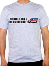 Wholesale MY OTHER CAR IS AN AMBULANCE Humorous Transport Travel Themed Mens T Shirt