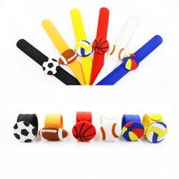 Wholesale designer footballs online – design Pvc Series Motion Bracelet Soft Glue Flexible Football Basketball Bracelets New Pattern Fashion Popular In Europe And America ks J1
