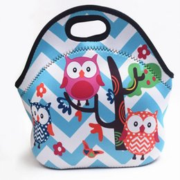 Wholesale Lunch Bags Tote Printed Animal Lunch Box Cute Outdoor Travel Picnic Lunch storage Bag Portable Insulated Thermal Food Picnic