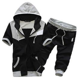 $enCountryForm.capitalKeyWord NZ - Summer Nice Men Fashion Boutique Breathable Movement Short Sleeves Hoodie High-end Quality Men Shorts Casual Sets Sweatshirts