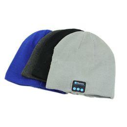 Wireless Headphones Mic Blue Australia - Smart Warm Beanie Hat with Built in Wireless Bluetooth Headphones Speaker Mic Colors