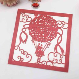 Wholesale 20PCS On A Hot Air Balloon Pattern Decor With Wedding Invitation Engagement Honeymoon Marriage Grand Events Supplies