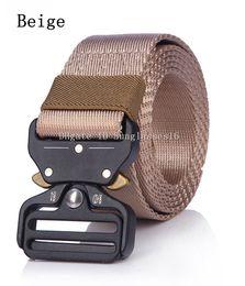 $enCountryForm.capitalKeyWord Australia - 125cm Heavy Duty Men Belt Mens Designer Belts Ceinture Khaki Beige Tactical Buckle Zinc Alloy Outdoor Sports Active Trainin Waist Strap
