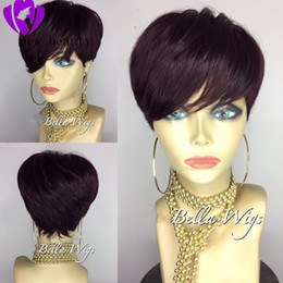 $enCountryForm.capitalKeyWord Australia - Rihanna style Short Pixie Hair cut Wigs For Black Women Pre Plucked Bob Wig Remy Brazilian Glueless lace front human hair Wigs