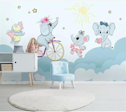$enCountryForm.capitalKeyWord Australia - custom size 3d photo wallpaper mural kids room cartoon elephant riding bicycle 3d picture sofa backdrop wallpaper mural non-woven sticker