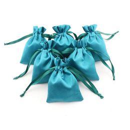 $enCountryForm.capitalKeyWord Australia - Jewelry Packing Cloth Satin Drawstring Bag Imitation Silk 8x10cm Christmas Wedding Gift Bags & Pouches Fast Shipping QW9420
