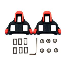 Wholesale A Set Of X Bicycle Self locking Pedal Cleats Set Yellow For Sm sh11 Spd sl For Road Mountain Bicycle Accessories