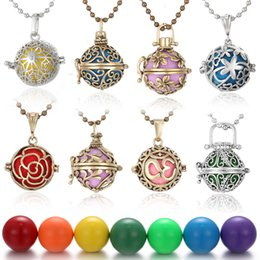 $enCountryForm.capitalKeyWord Australia - Mexico Chime Music Bell Angel Ball Caller Locket Necklace Flower Pregnancy Necklace Perfume Jewelry Aromatherapy Essential Oil Necklace