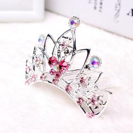 ElEgant hair claws online shopping - New product listing high end crown hair claws custom women hair claw clip elegant hair accessories