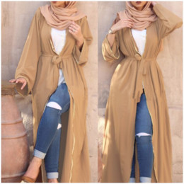 MusliM woMen clothing dubai online shopping - New Abaya In Dubai Dress Muslim Robe Burqa Kuftan Pakistani Dresses Women Moroccan Kaftan Turkish Cardigan Long Arab clothing