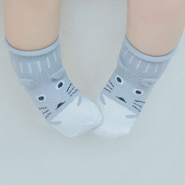 $enCountryForm.capitalKeyWord Australia - Infant Baby Children's Cute New cartoon cotton socks Duck Chick Blue Penguin Fox Bird Cat Skidproof socks loose mouth 3d socks wholesale