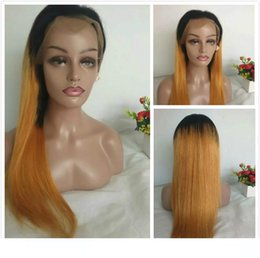 cheap blonde full lace wigs NZ - A Long Straight Lace Front Wigss Colored 1b 27 Raw Indian Braided Wigs For Black Women Cheap Honey Blonde Ombre Human Hair Full Lace Wi