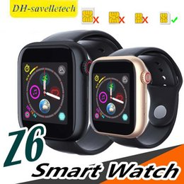 $enCountryForm.capitalKeyWord Australia - Z6 smartwatch for apple iphone Smart Watch Bluetooth 3.0 watches with camera Supports SIM TF Card for android smart phone PK DZ09