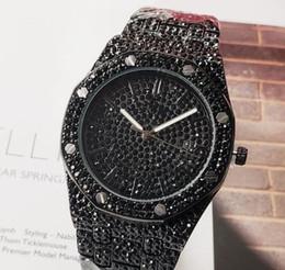 $enCountryForm.capitalKeyWord Australia - Full Diamond 42mm Royal Men Watch Steel Iced Out Watches Mens Designer Quartz Watch Gift calendar hip hop crystal clock