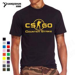 Game counters online shopping - YUANQISHUN New CS GO Print T Shirt Counter Strike Global Offensive CSGO Hot Games TShirt Custom Men Boutique T shirt