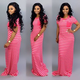 $enCountryForm.capitalKeyWord NZ - Product spot! Z012 sexy women's horizontal strip cute short sleeve high-end fashion long dress