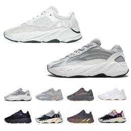 2019  Kanye West 700 Wave Runner zapatos para correr para hombre para mujer 700s V2 Static Sports Sneakers Malva Gris Sólido Diseñador de Lujo Zapatos Tamaño 36-46 en venta