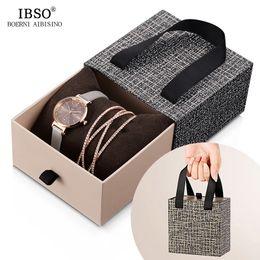 $enCountryForm.capitalKeyWord Australia - Ibso Crystal Bracelet Watches Set Female High Quality Quartz Watch Luxury Women Watch Bangle Set For Valentine's Gift J 190505