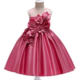 $enCountryForm.capitalKeyWord Australia - Girls Rose Petal Flower Girl Princess Party Dresses for Weddings Birthday Kids Girl Clothes Children Clothing Baby Costume L5068MX190912