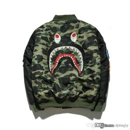 2017 New A BADE A APE ULTIMATIVE 1. CAMO LEICHTE MA1 BOMBER JACKET GREEN MENS Bap Shark Kopf MA1 Armee Flug Bomber Mantel
