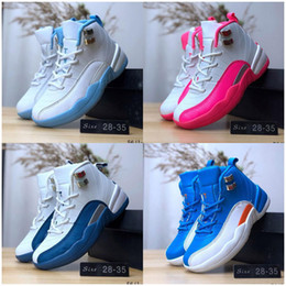 youth boys basketball shoes Australia - hot 12 Kids Basketball Shoes Children 12s High Quality Sports Shoes Youth Boy Girl Basketball Sneakers For Sale EU28-35