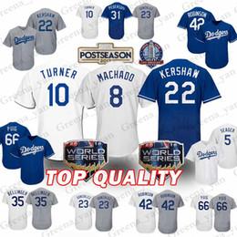 4afe6d025 Top Los Angeles Dodgers Jerseys 8 Manny Machado 10 Justin Turner 22 Clayton  Kershaw 23 Adrian Gonzalez 5 Corey Seager Jersey High-quality