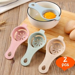 Gadgets Gear Australia - Tools Gadgets Egg Tools Hoomall 2pcs Kitchen Material Plastic Steel Egg Yolk White Separator Used To Make Cake (Color: Random) Kitchen