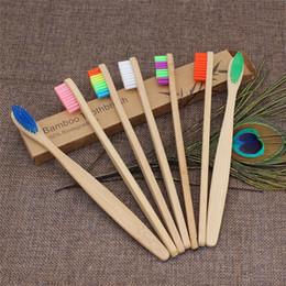Venta al por mayor de Bambú cepillo de dientes cepillo de registro de protección del medio ambiente de bambú de carbono rectificado cepillo de dientes punto de seda del viaje Hotel cepillo de dientes T9I00224