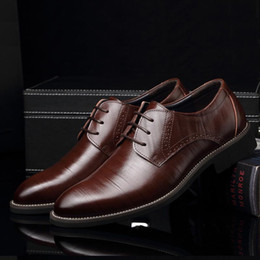 $enCountryForm.capitalKeyWord NZ - Gnome Pu Leather Mens Dress High Quality Oxford For Lace-up Business Brand Men Wedding Shoes
