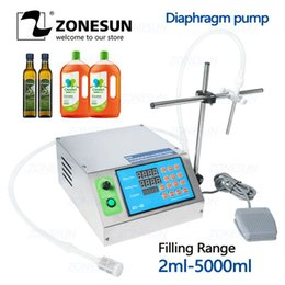 Oil desk online shopping - ZONESUN Diaphragm Pump Bottle Water Filler Semi automatic Liquid Vial Desk top Filling Machine for Juice Beverage Oil Perfume