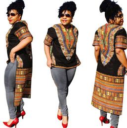 Wholesale traditional dress woman resale online - Women African Clothing Women Dresses For Robe Africaine Traditional Rushed Polyester New Fashion Clothes