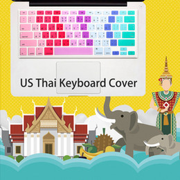 $enCountryForm.capitalKeyWord Australia - Keyboard Cover Silicone Thai Thailand For Macbook Air Pro Retina 13 15 17 Protective Skin Laptop Skin Film For Mac Book