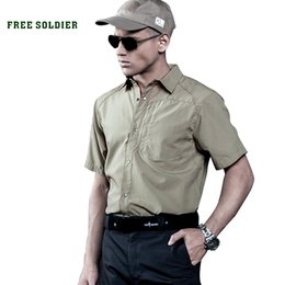 Camping T Shirts Australia - FREE SOLDIER outdoor sports camping hiking tactical men's short shirt quick-dry T-shirt for spring summer