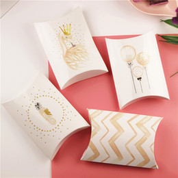 Party Present Box Australia - 5Pcs Flamingo Candy Gift Box Wedding Birthday Party Guest Packaging Boxes Gift Bags Paper Pillow Box Present Pouch Kids Decor