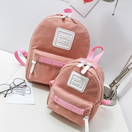 Casual Canvas Women Backpack Red NZ - 2019 Two Size Kawaii Parent Child Canvas Backpack Women Kids Daypack for Girls Female Casual Children Schoolbag Travel Backpack
