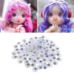 handmade craft kid Canada - 100Pcs 15mm DIY Doll Puppet Plastic Bloodshot Safety Eyes for Handmade Bear Doll Craft Children Kids Toy