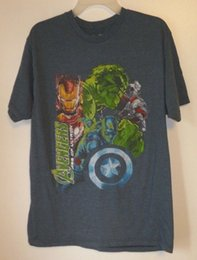 Cool Graphic Tees NZ - Men's T-Shirt,Avengers,Size L,Blue,Short Sleeve,Graphic Tee,Marvel,Women,50 50 Cool Casual pride t shirt men Unisex New