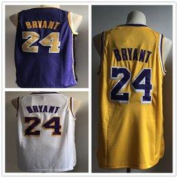daf3d3799d0 Kobe 24 Bryant Men s Basketball Jerseys New 2019 Fashion White Yellow  Purple Jersey Size S-XXL Men polo shirt