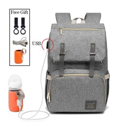 Women Diapers NZ - Fashion Large Capacity Baby Nappy Bag Diaper Bag Purse Multifunction Usb Mummy Travel Backpack Women Nursing Bags For Mom Daddy