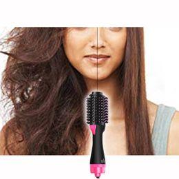$enCountryForm.capitalKeyWord Australia - Hair Dryer Volumizer Hair Dryer Brush Multi Function Electric Blow Dryer Hot Air Negative Ion Generator Hair Straightener Comb J190717