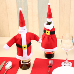 $enCountryForm.capitalKeyWord Australia - Red Wine Bottle Cover Bags Christmas Dinner Table Decoration Home Party Decors Santa Claus Christmas Supplier