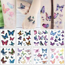 1ef4232d3 15x10.5cm RH 3D Arm Tattoo for Woman Girl Colorful Angel Butterfly Flower  Grass Decal Temporary Waterproof Body Neck Hand Art Tattoo Sticker
