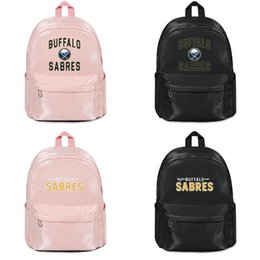 $enCountryForm.capitalKeyWord Australia - Manufacturers selling designer backpack handbags shoulder bags unisex Cool Women'sIce hockey Buffalo Sabres Woolen cloth Book Back Packs