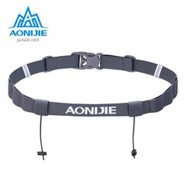 Motor belts online shopping - 2017 Aonijie Unisex Triathlon Marathon Race Number Belt With Gel Holder Running Belt Cloth Motor Running Outdoor sports