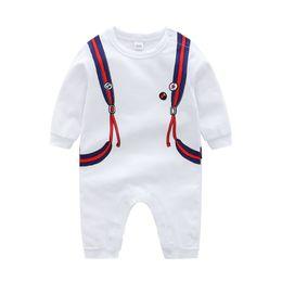 Kids Long Jumpsuit Australia - New Newborn Baby Boys Girls Romper Animal Printed Long Sleeve Winter Cotton Romper Kid Jumpsuit Playsuit Outfits Clothing