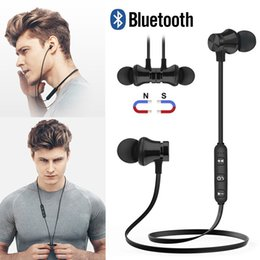 wireless headphones packaging UK - XT11 Wireless Bluetooth headphones Sports In-Ear BT 4.2 Stereo Magnetic earphone headset earbud with MIc For iphone +Package