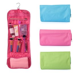 3f1b985f57 1PC Hot Sale Women Travel Toiletry Bag Polyester Organizer Cosmetic Case  Large Capacity Makeup Bag Hanging Foldable For Bathroom