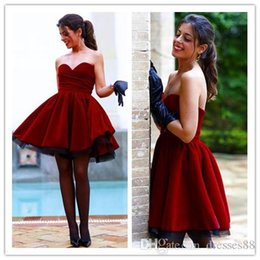 $enCountryForm.capitalKeyWord Australia - 2019 Hot Sexy Red Homecoming A Line Dresses Short Prom Gowns Sweetheart Backless Knee Length Princess Ball Gowns Cocktail Dress Plus Size