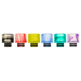 Wide bore vape online shopping - Epoxy Resin Drip Tip Colorful Wide Bore Driptips For e cigarettes vape Tank Atomizers Mouthpiece DHL Free